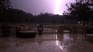 Dramatic sheet lightning illuminates Florida sky