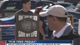 Animal rights activists hold anti-fur rally on Las Vegas Strip - Video