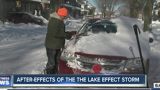 Digging out from lake effect snow - Video