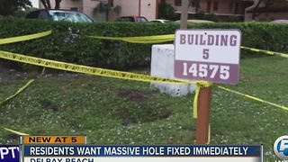 Residents want massive hole fixed immediately - Video