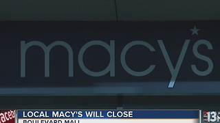 Macy's at Boulevard Mall will close this year - Video