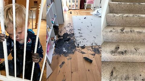 Toddler Goes On Paint Soaked Rampage In Family Home