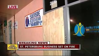 Fire at rehab clinic in St. Pete suspected to be arson - Video