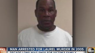 Man arrested for 2005 murder in Laurel - Video