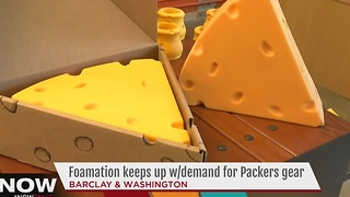 Packer fans gear up at Foamation in Milwaukee - Video