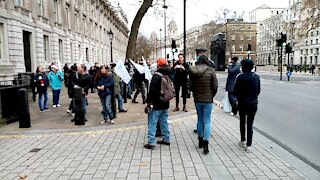 Outside Downing Street (Part 1) - Santa's Save Christmas protest - London - 12/12/20