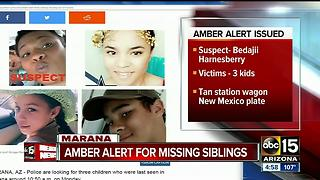 Amber Alert: Three siblings missing out of Marana - Video