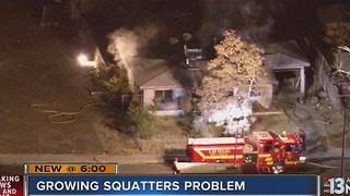 House fire near Charleston, Eastern likely started by squatters - Video