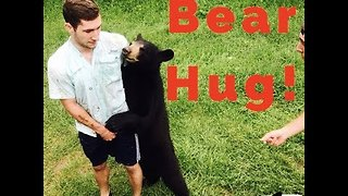Reckless Campers Play With Bear Cub - Video