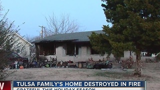Family left without home for the holidays after house fire - Video