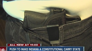 Indiana lawmaker's bill that would get rid of existing laws requiring a licence to carry a gun - Video
