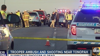 Trooper ambushed by suspect on Tonopah - Video