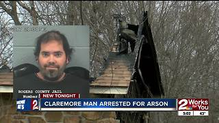 Claremore man admits to setting his family's home on fire - Video