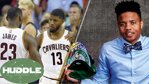 Does Paul George Make the Cavs BETTER Than the Warriors? Celtics Give #1 Pick to Sixers -The Huddle