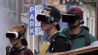On set live footage of Steven Spielberg's 'Ready Player One' - Video