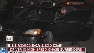 Driver in high-speed chase in Otay Mesa surrenders - Video
