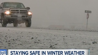 Staying safe in winter driving - Video