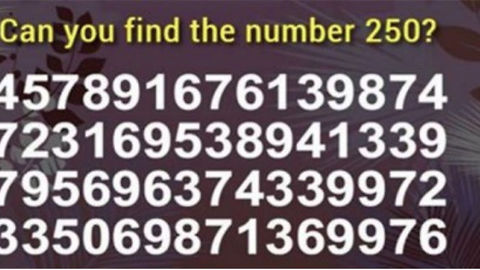 How Fast Can You Find The Number 250? The Record Is Under 2 Seconds. Did You Beat It?