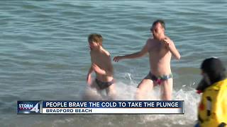 Dozens brave subzero wind chills for Polar Plunge