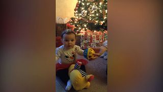 Cute Baby Has The Cutest Reaction To New Toy - Video