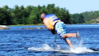 Epic 'AquaSkipper' face plant fail! - Video