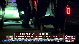Man in custody after robbing a Quiktrip - Video