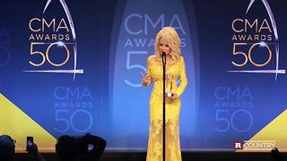 Dolly Parton on her emotional CMA tribute | Rare Country - Video