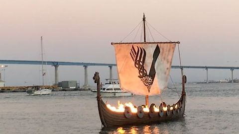 45-Foot Viking Longship Set Ablaze During San Diego Comic Con