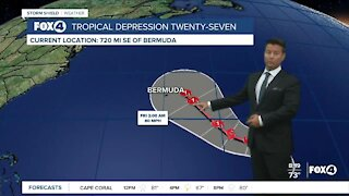 Tropical Depression 27 has formed in the Atlantic
