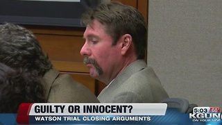 Watson trial closing arguments - Video
