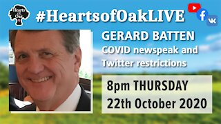 Livestream with Gerard Batten 22.10.20
