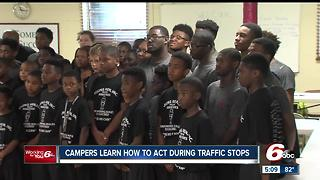 Young men learn how to behave during traffic stops