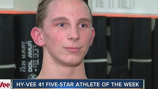 Hy-Vee 41 Five-Star Athlete of the Week: Charles Brockmann - Video