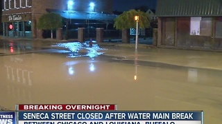 Water main break causes restaurant to close - Video