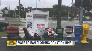 New Port Richey City Council to ban clothing donation bins - Video