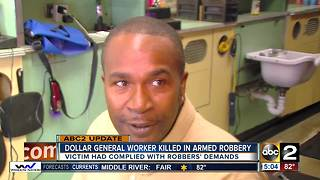 Dollar General worker killed in armed robbery - Video