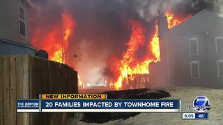 Fire burns more than 20 townhomes in Colorado Springs - Video