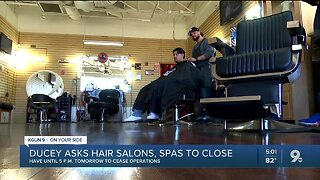 Ducey orders salons, barbershops, spas to close