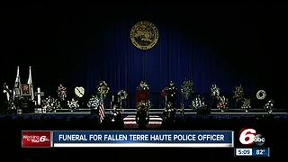 Terre Haute officer killed in shootout honored as a hero - Video