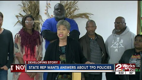 STATE REP WANTS ANSWERS ABOUT TPD POLICIES
