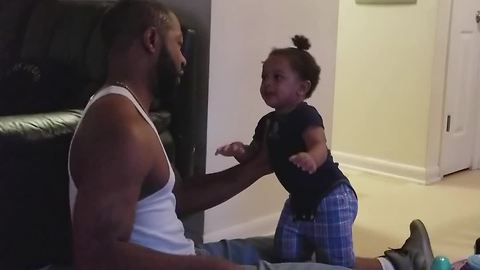 Toddler Scared Of His Dad When He Removes His Ball Cap