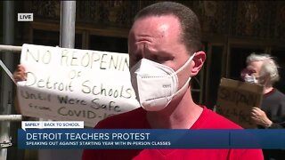 Detroit teachers protest, speak out against in-person learning