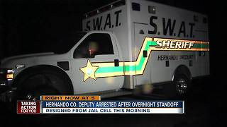 Detective arrested following 11+ hour standoff with SWAT - Video