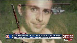 Boy dies in Rogers County crash - Video