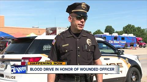 Amherst Police host blood drive in honor of officer injured in SWAT standoff