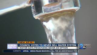 Council Votes to Never Sell Water System - Video