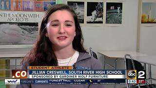Student athlete of the week Jillian Creswell - Video