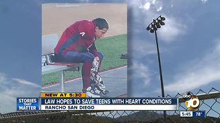 Law may save teens with heart conditions - Video