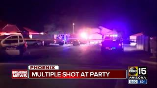 Four in serious condition after being shot in Phoenix - Video