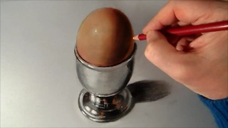 How to draw a realistic egg cup - Video